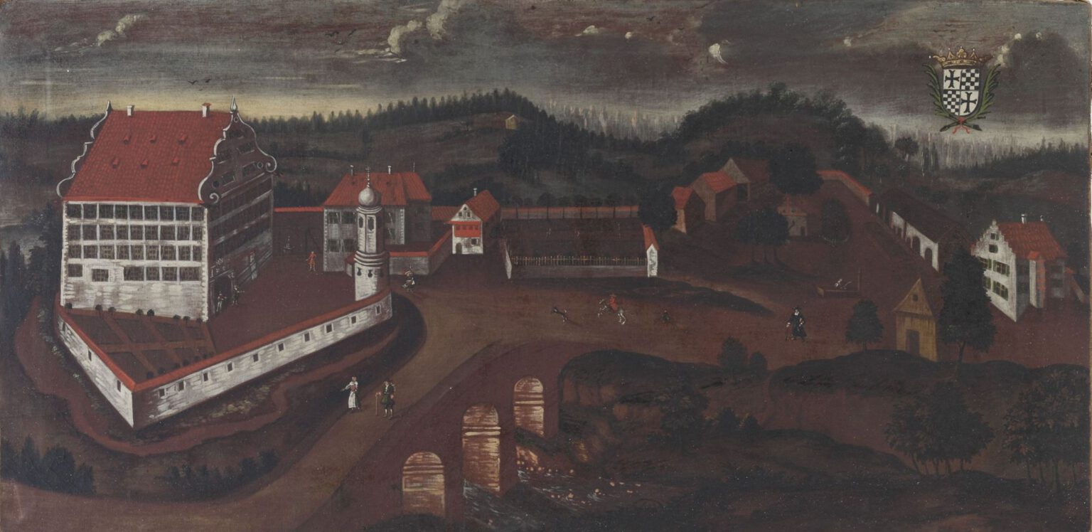Schloss Achberg, älteste Ansicht, Gemälde um 1700