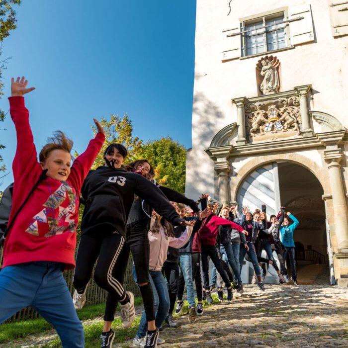 Schloss Achberg erleben, Kinder   Foto Erika Duerr