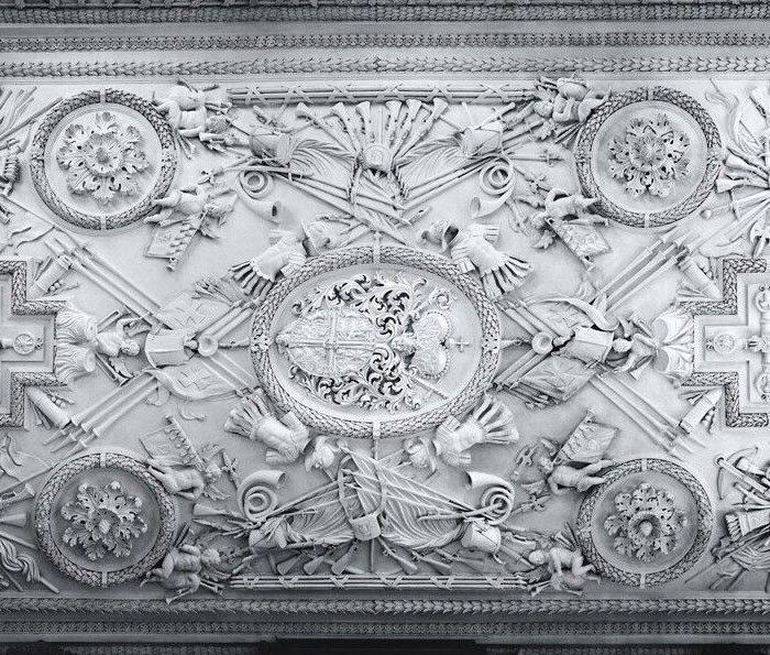 Stuckdecke des Rittersaals   Foto René Schrei