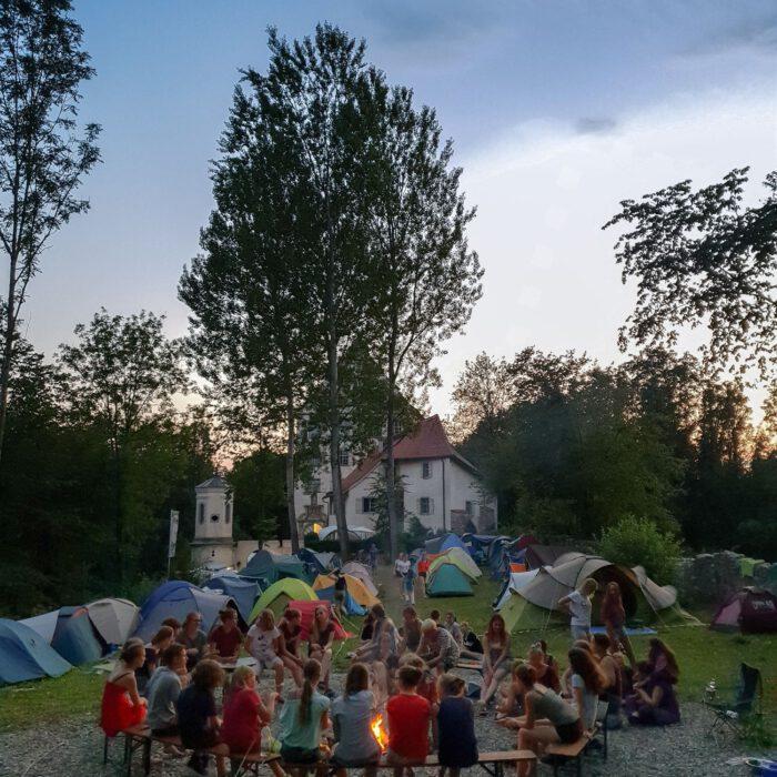 Lagerfeuer, KunstCamp 2019, Foto Valentin Oswald