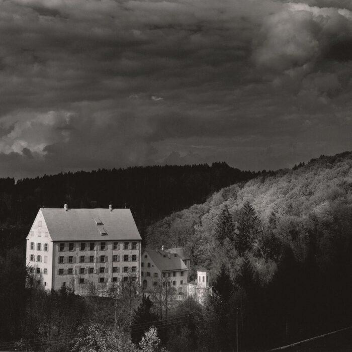 Schloss Achberg bei Gewitter