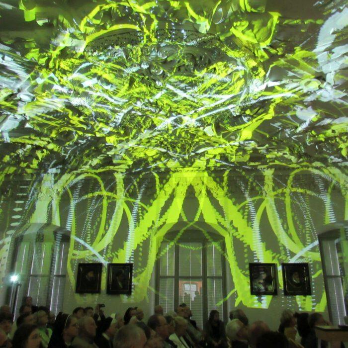 Lichtinstallation im Rittersaal, Laurenz Theinert 2017
